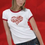 Playful sexy heart ringer t-shirt