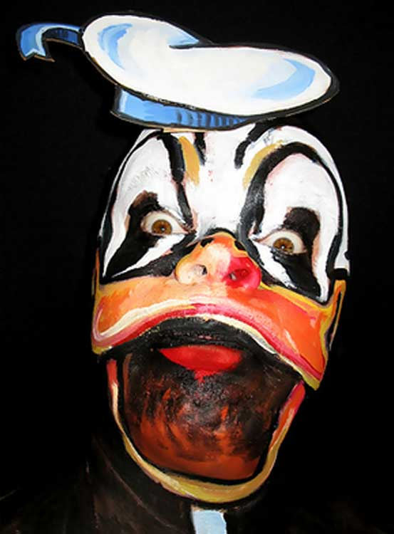 Crazed Donald Duck Face Paint