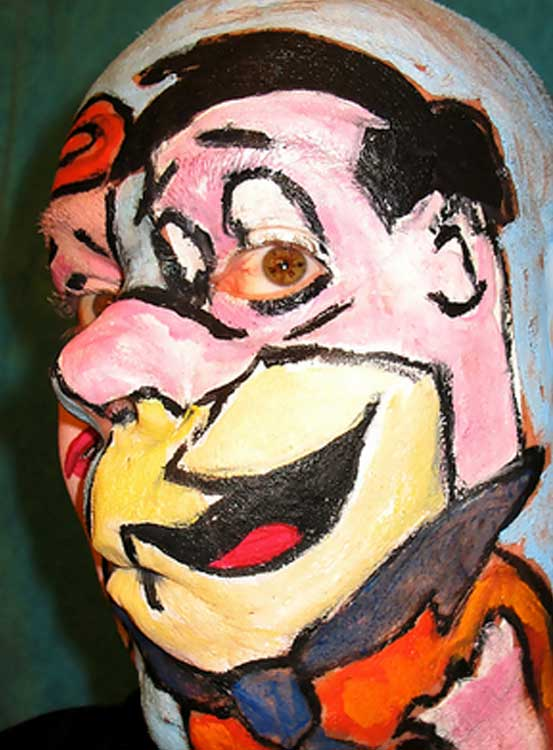 Fred Flintstone Face Paint