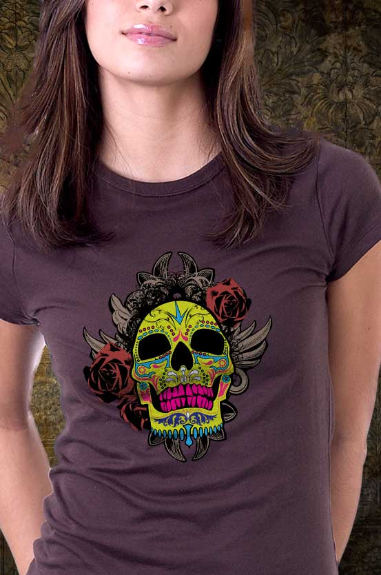 Sugar Skull Art T-shirt