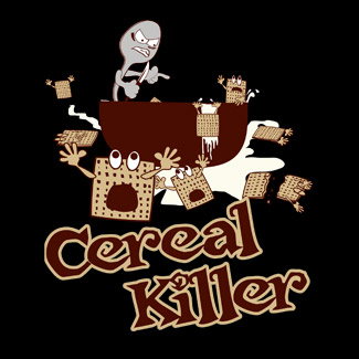 8a5f5a98 Cereal Killer Funny Graphic Shirt For Cereal Lovers by CuriousInkling