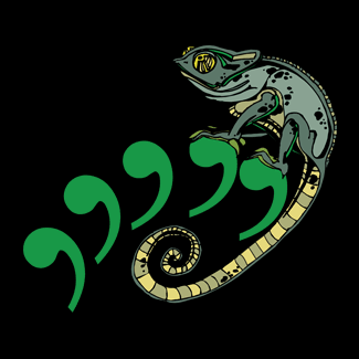 Comma Chameleon Design