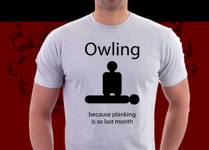 Owling : Becaues planking is so last month